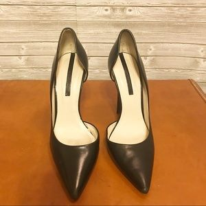 Zara Black Leather Pointy Toe Heel Sz 38 US 7.5